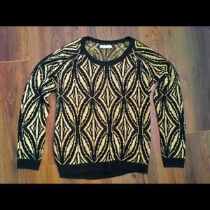 Hinge black and gold sweater